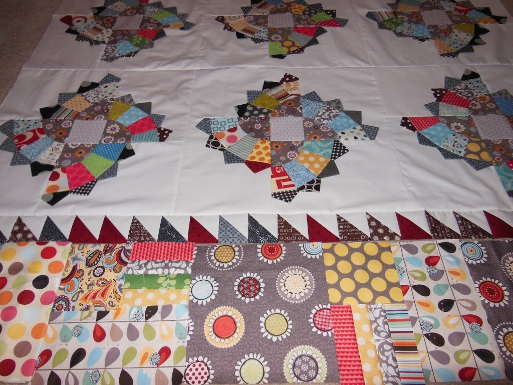 how to sew a pieced border on quilt