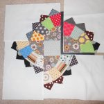 Fan Quiltalong Part 4: partial seams, blocks, quilt center