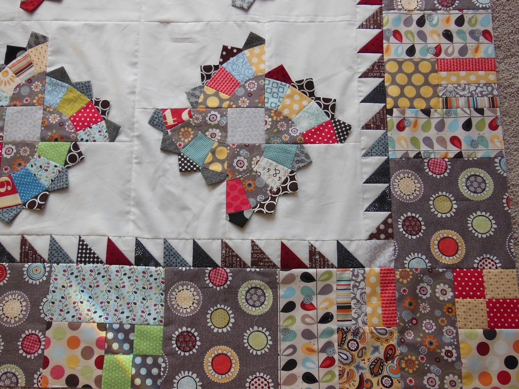 Borders: 1/2 square triangles! - Color Girl Quilts by Sharon McConnell : borders for quilts - Adamdwight.com