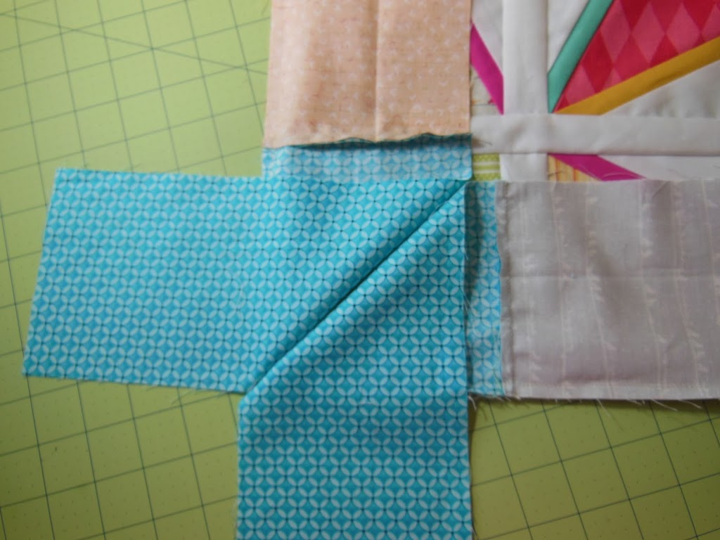 Easy* Mitered Corner - Color Girl Quilts by Sharon McConnell : miter corners on quilts - Adamdwight.com