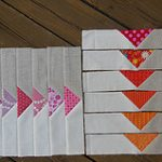 Quilters' Book Club project: flying geese