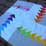 Rainbow Flying Geese MiniQuilt