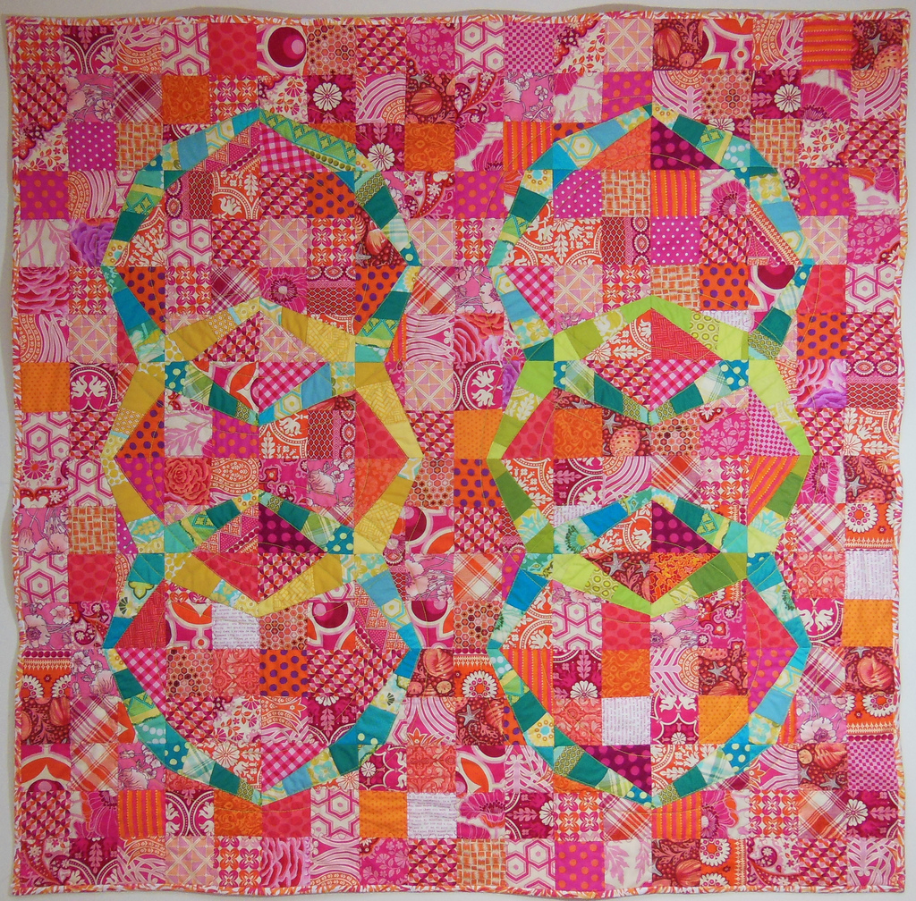 Double Wedding Ring Quilt Pattern: A Finish: Modern Twist Double Wedding Ring