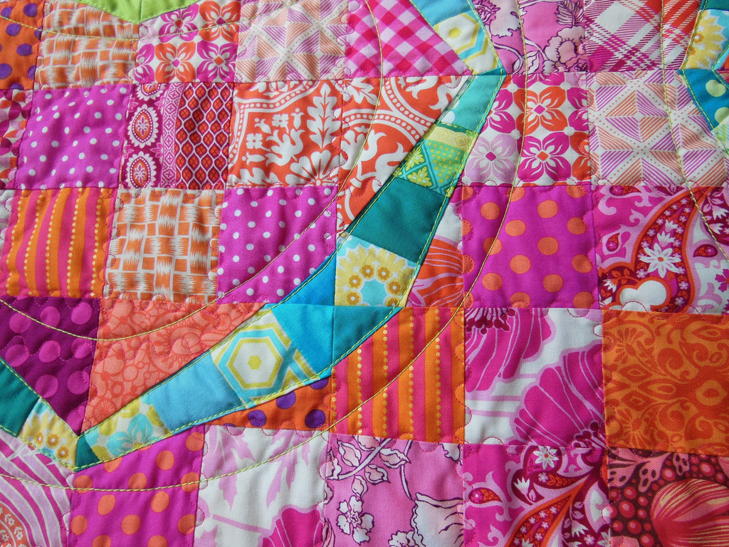 A finish: Modern Twist Double Wedding Ring - Color Girl Quilts by ...