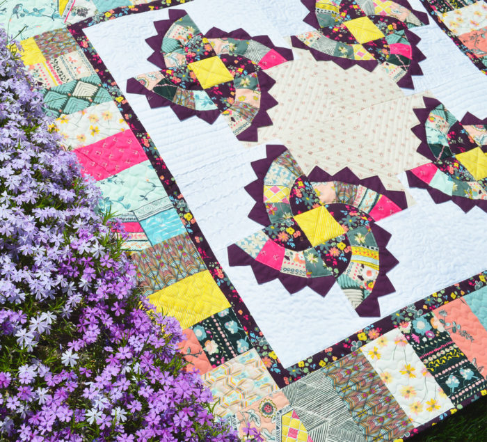 twirling fans quilt by Color Girl quilts