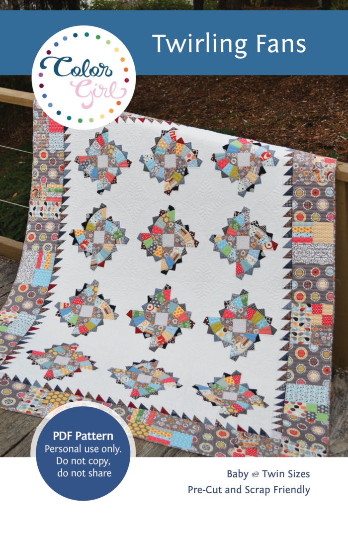 Twirling Fans Quilt pattern by Color Girl quilts