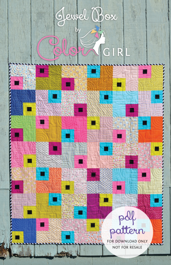 JewelBox quilt pattern cover, beginner quilt pattern by colorgirlquilts