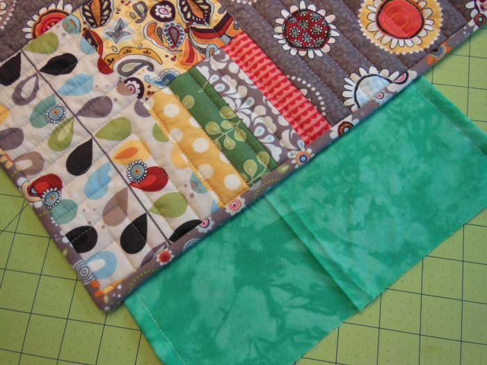 Hanging sleeve on a quilt