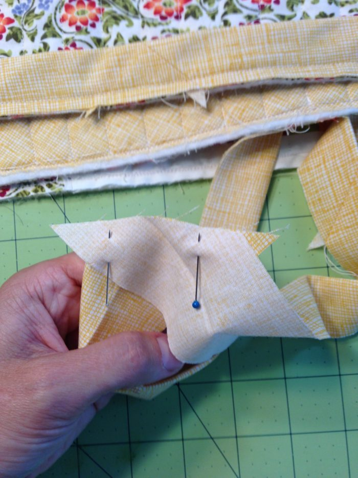 matching the ends of binding strips