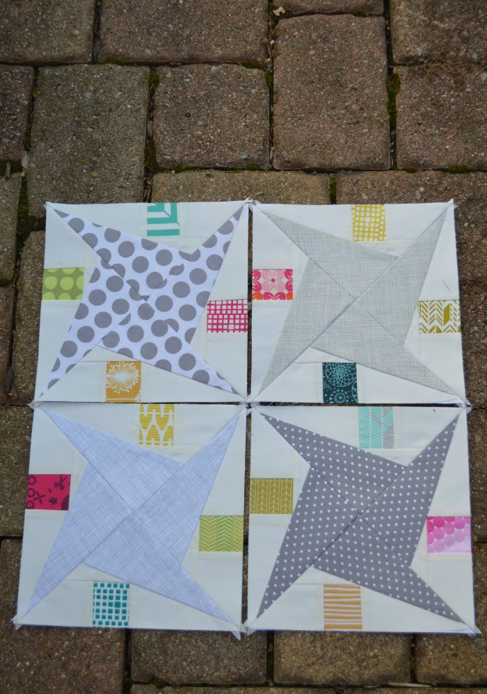 Rocky Road Star quilt block, Sharon McConnell for Color Girl Quilts, Paper Piecing