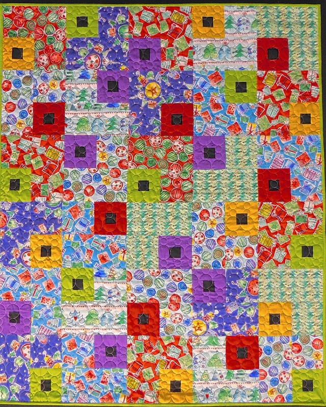 Christmas Jewel Box Quilt pattern by color girl quilts
