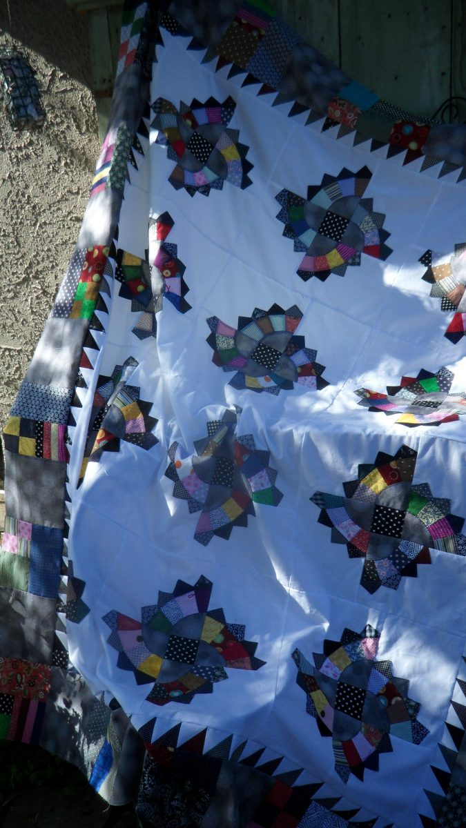 Twirling Fans Quilt, a pattern by Color Girl Quilts
