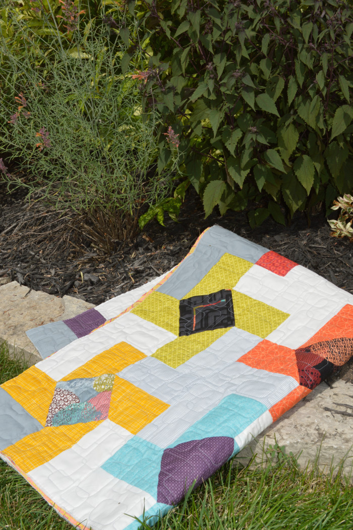 Dutch Windmill Quilt by Sharon McConnell for Color Girl Quilts, modern patchwork quilt