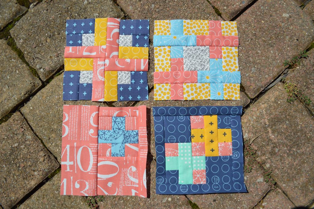 super simple modern quilt sampler by Sharon McConnell for Color Girl Quilts, modern patchwork