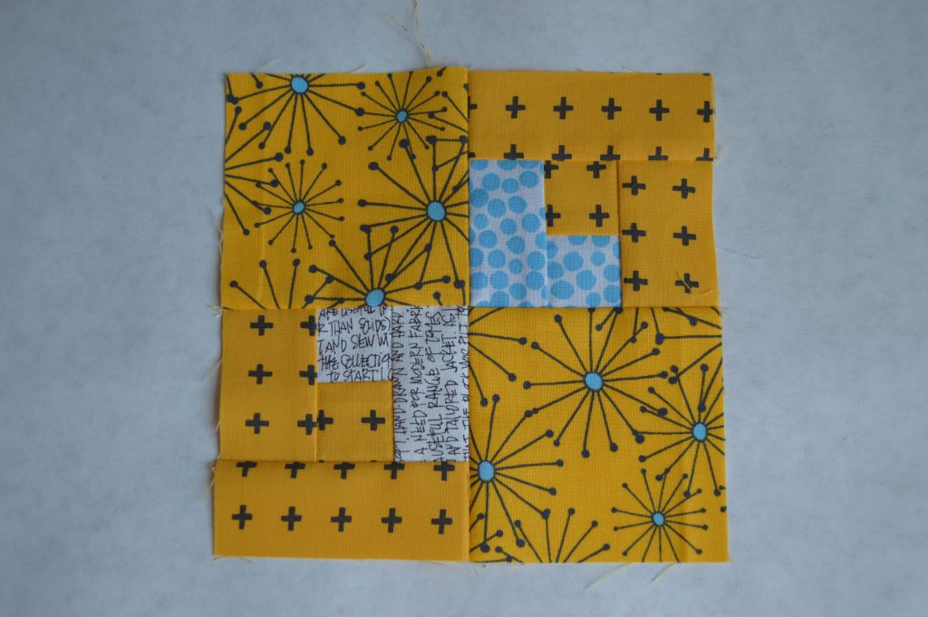 Super simple modern Sampler quilt, cross block tutorial, color girl quilts by sharon mcconnell