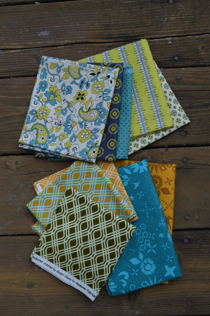 Chicopee fabric by Denyse Schmidt for Free Spirit, Sun Prints by Alison Glass, quilting
