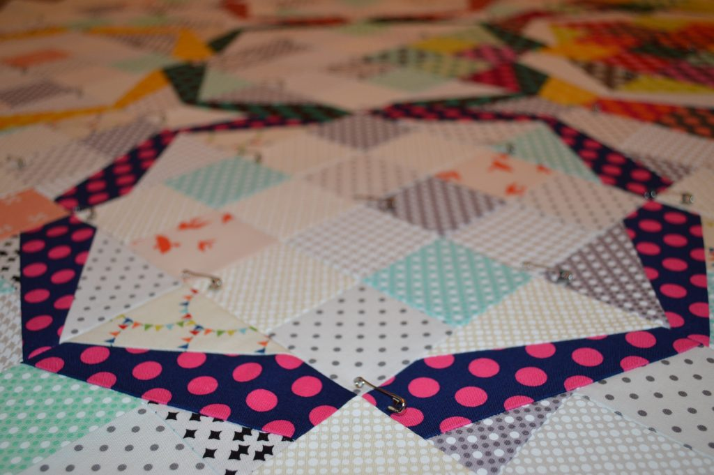 Hula Girl quilt with Michael miller fabrics by Sharon McConnell
