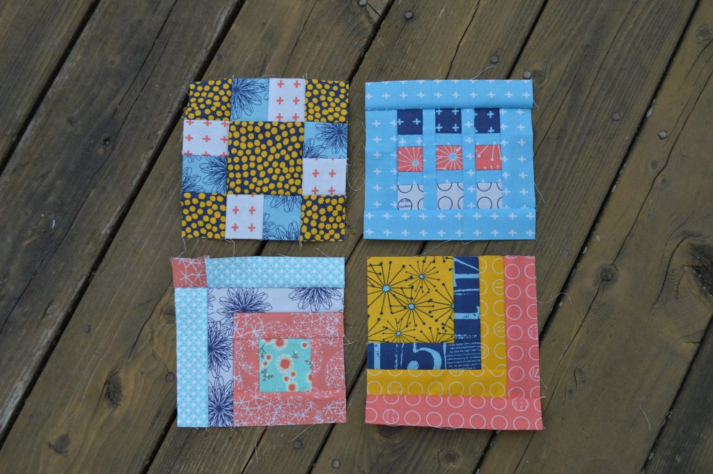Tula Pink 100 sampler blocks by Sharon McConnell, modern quilting squares