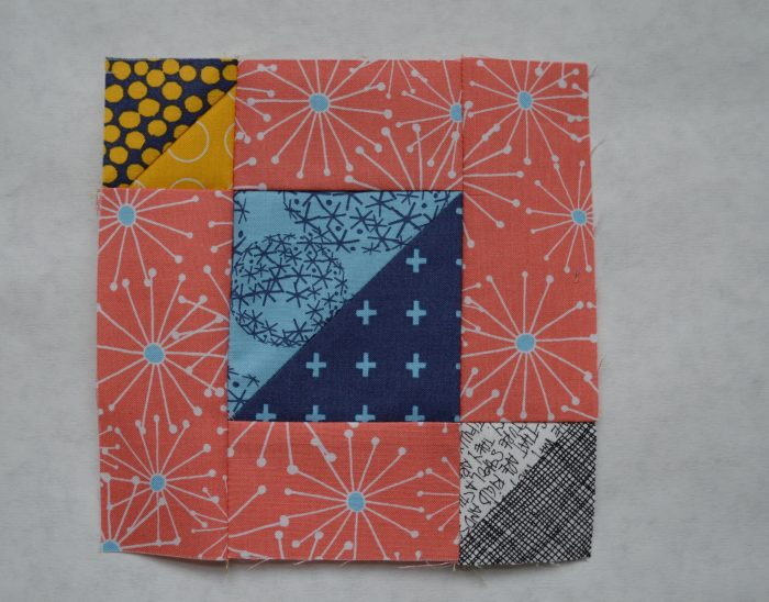 6 sampler quilt block 5 triangles color girl quilts for Modern house quilt block