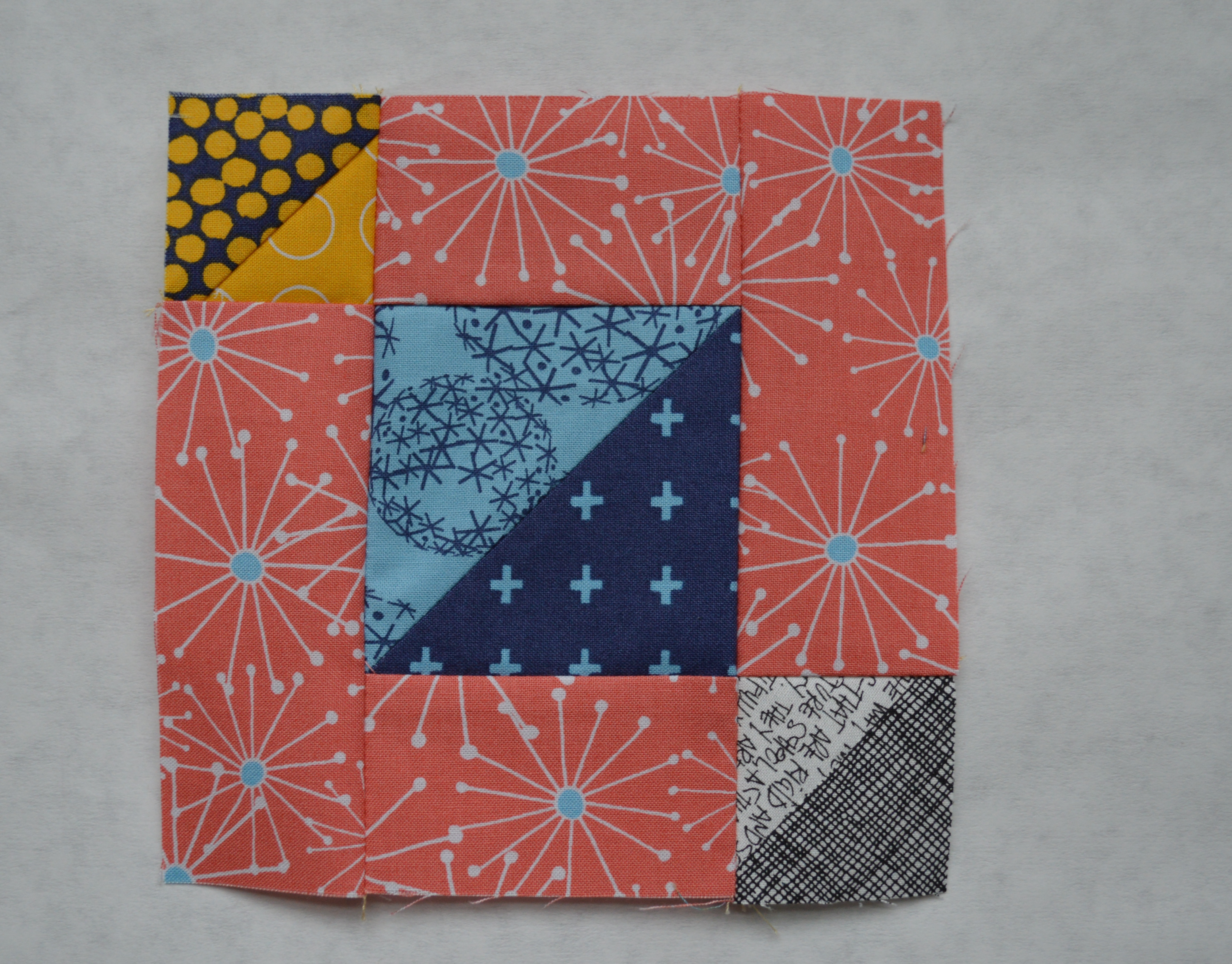 6 Sampler Quilt Block 5 Triangles Color Girl Quilts