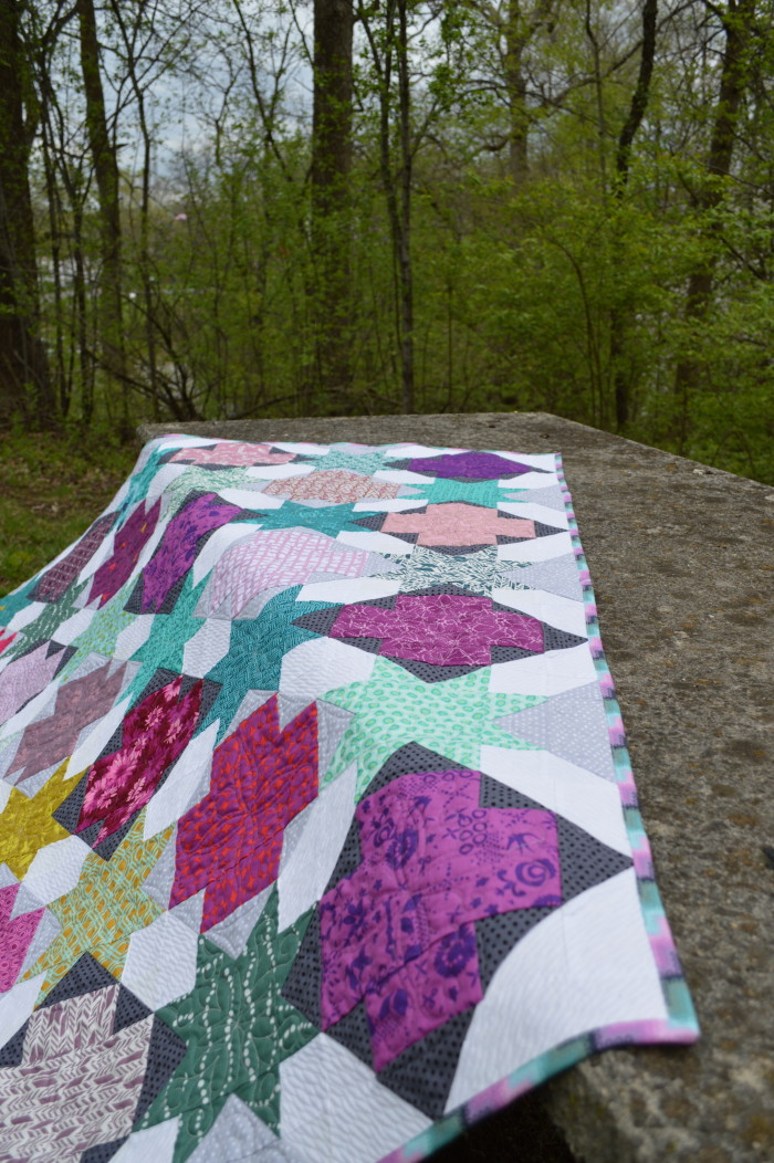 Star Crossed scrappy modern Quilt by Color Girl, American Quilter Magazine Feature