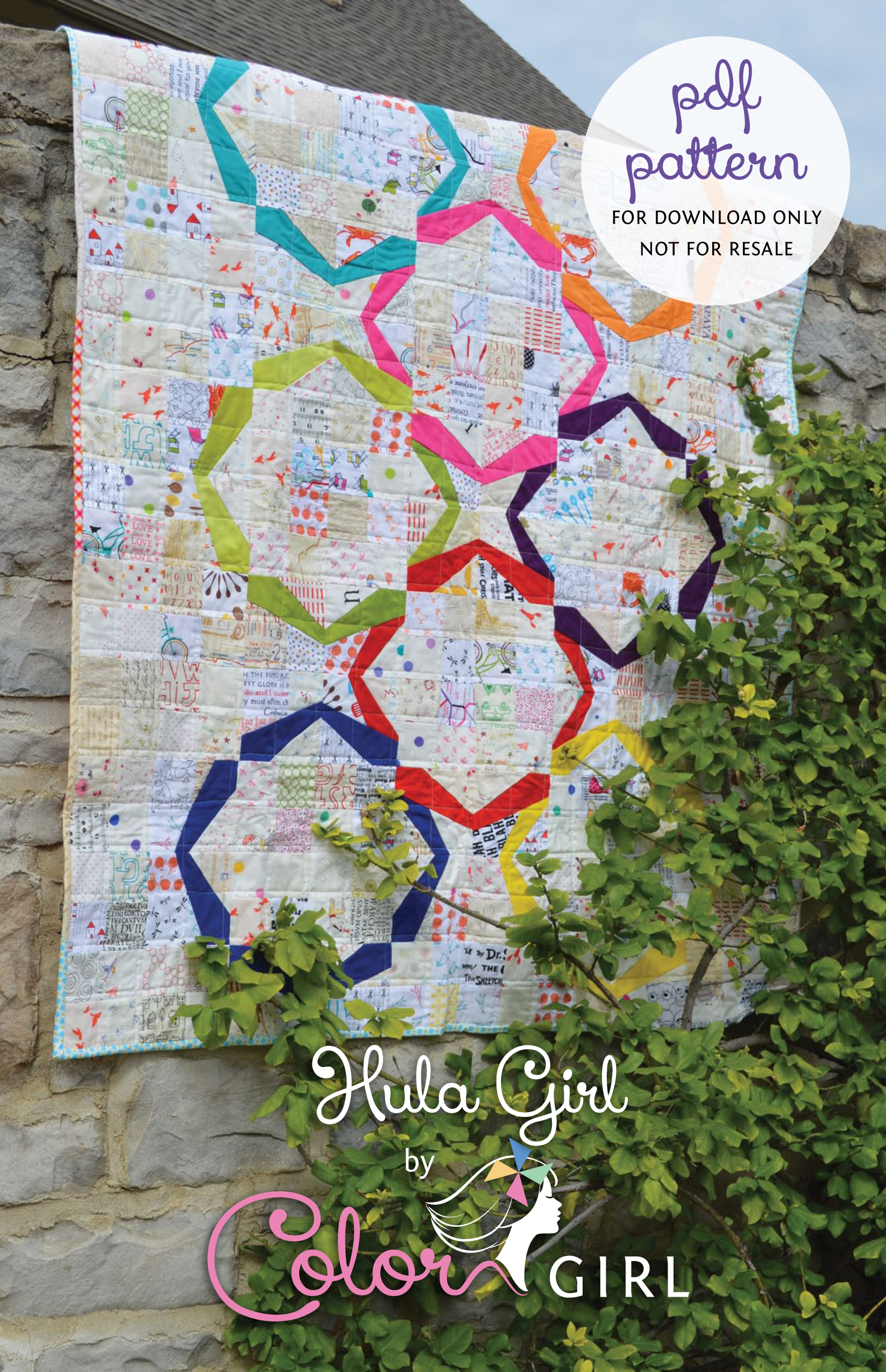 Hula Girl Quilt Pattern Now On Sale Color Girl Quilts By