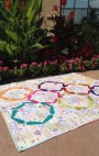 Hula Girl Quilt by Color Girl Quilts, modern ring quilt