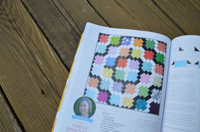 Jumping jacks scrap quilt by sharon mcconnell, in quilt now magazine, scrap patchwork easy quilt