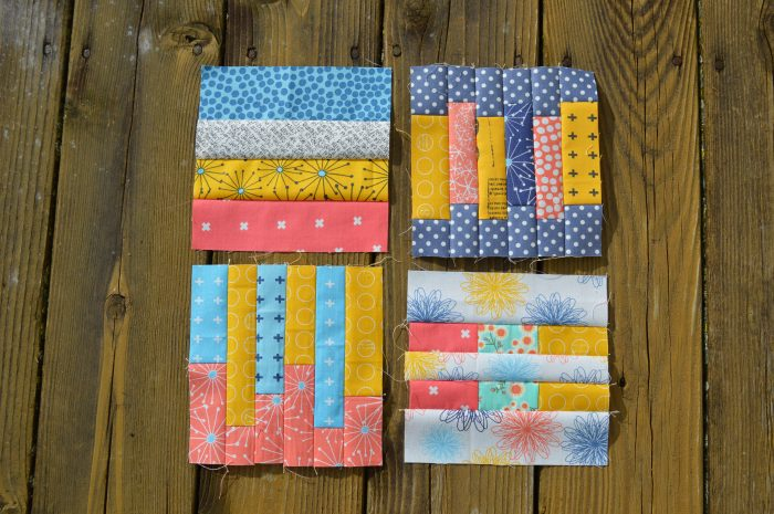 Tula Pink City Sampler six inch quilt blocks, with moda fabric by Sharon McConnell