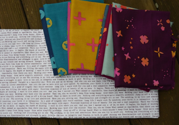 Handstamped batik fabric by Alison Glass for Andover fabrics