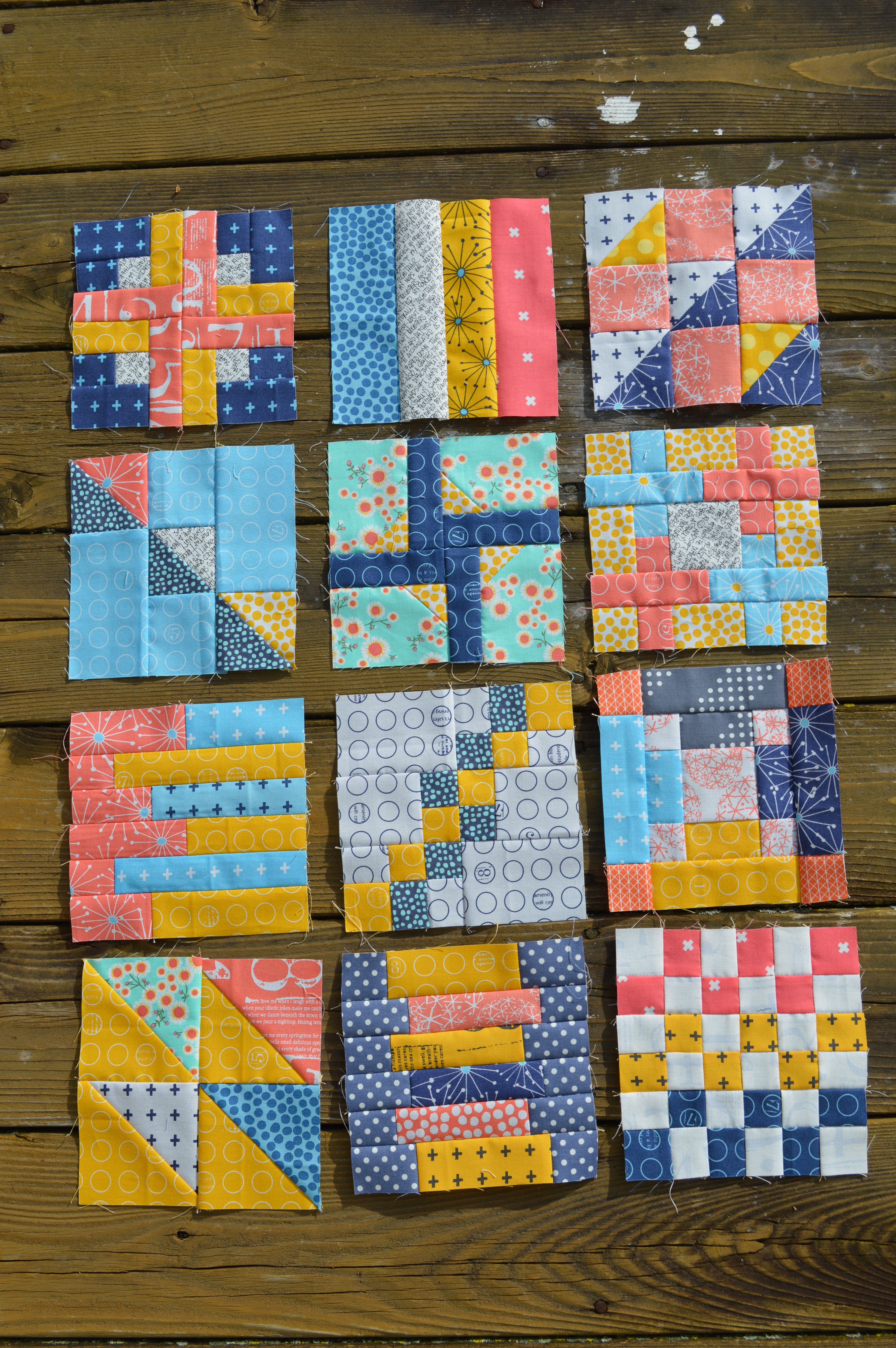 December Book Club Strip Blocks Color Girl Quilts By
