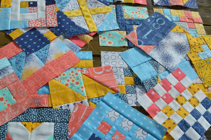 Super Simple six inch quilt blocks sampler, basic patchwork tutorials, modern sampler quilt