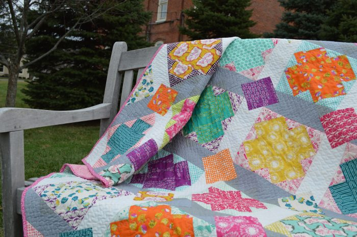 star cross modern patchwork quilt using utopia fabric for art gallery fabrics by color girl quilts