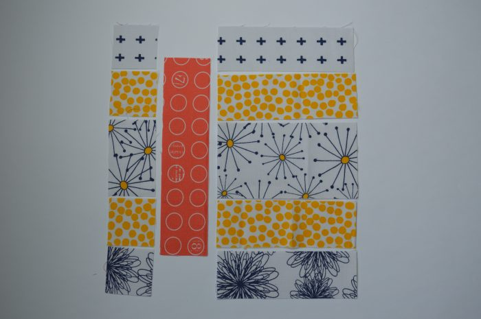 how to make Simple Sampler six inch quilt block with strips