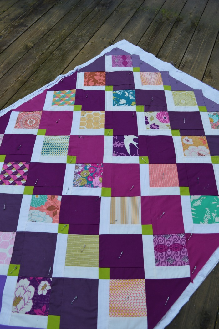 flying kites quilt, modern patchwork charm square baby quilt