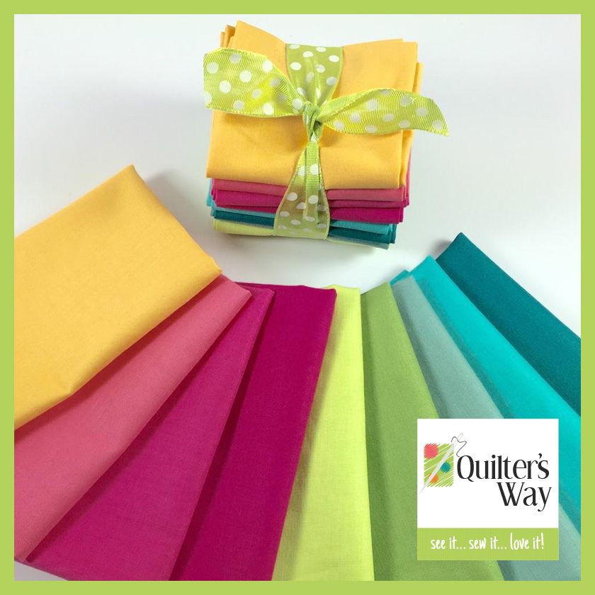 quilter's way, cotton couture solid fabric bundle