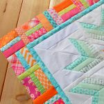 Aviatrix Medallion Quilt: the first border
