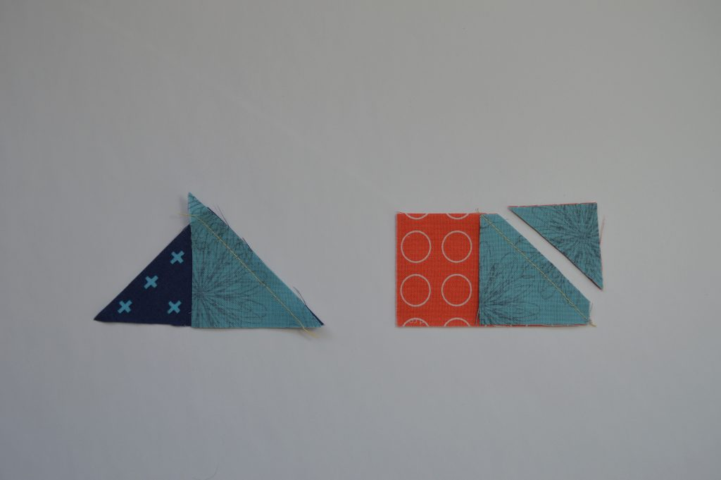 Simple Sampler modern quilt block with Flying geese