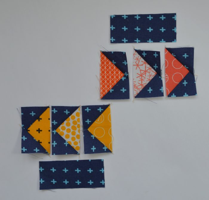 how to make a flying geese modern quilt sampler block