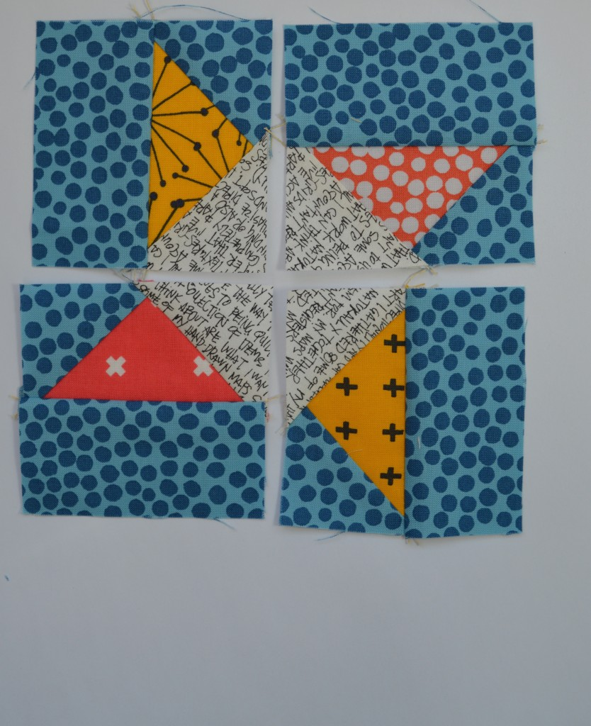 how to sew Super Simple Sampler six inch modern quilt block with flying geese