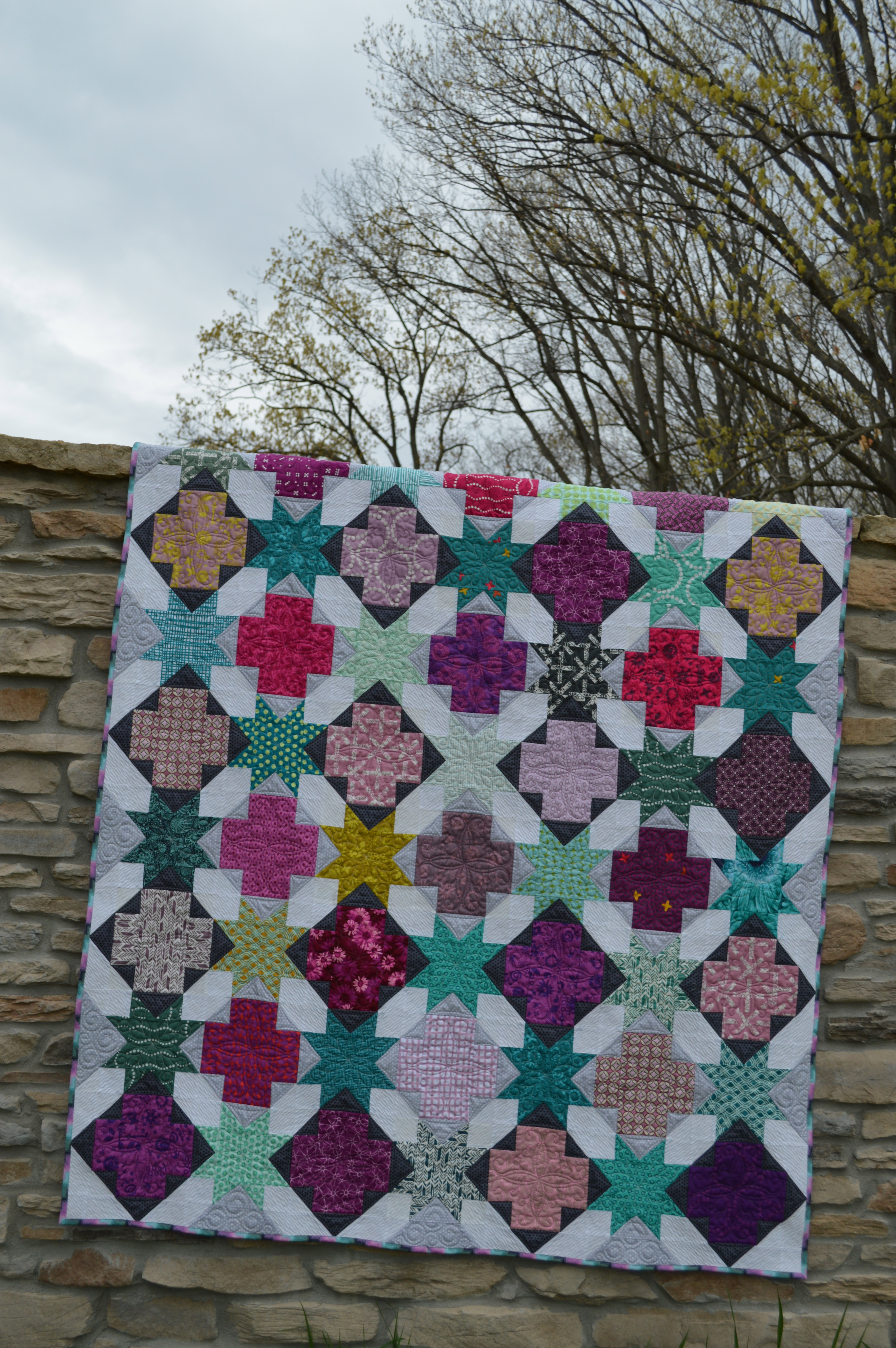 New Pattern On Sale Star Crossed Quilt Color Girl