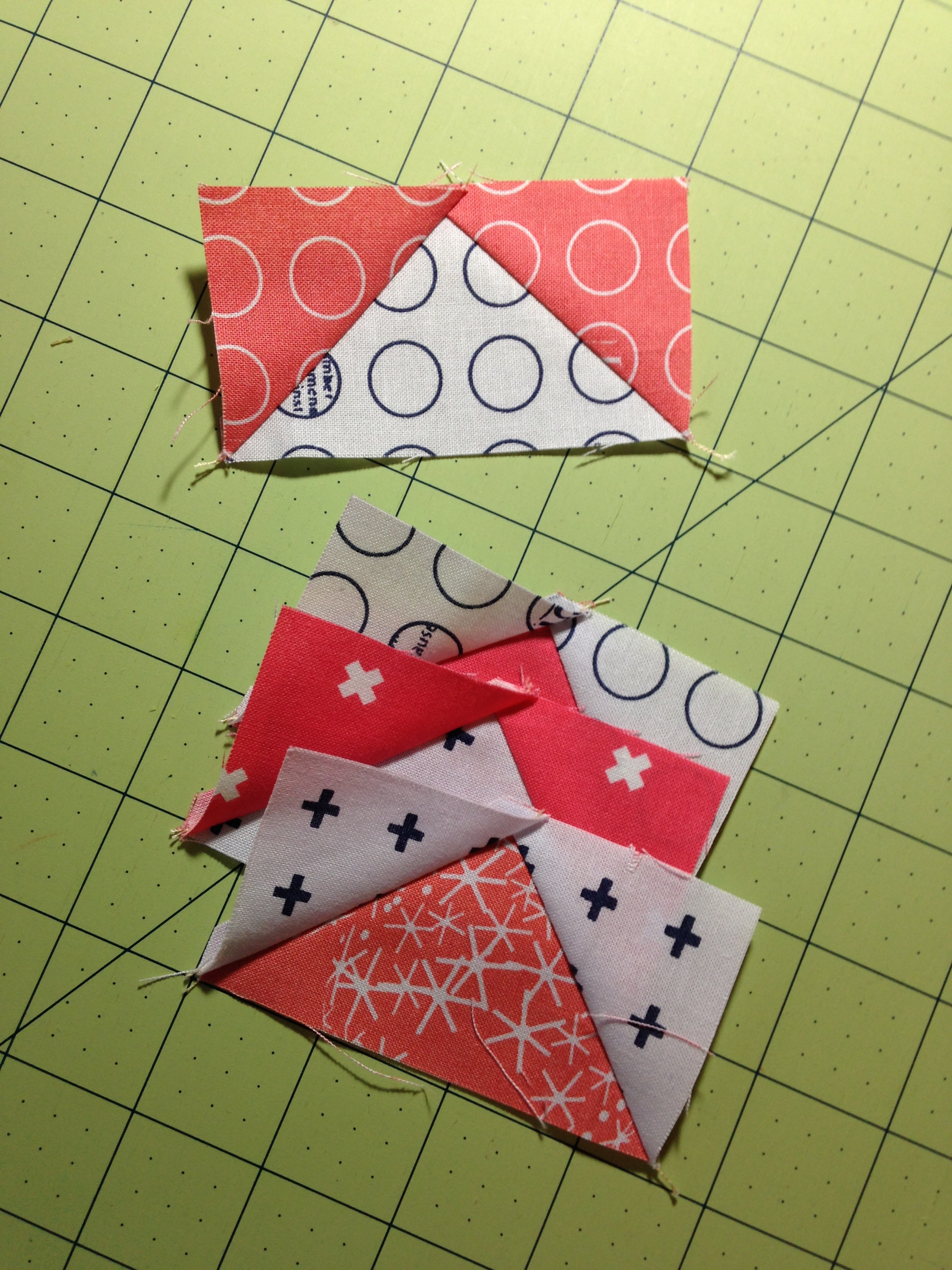 How to sew flying geese and snowball quilt block
