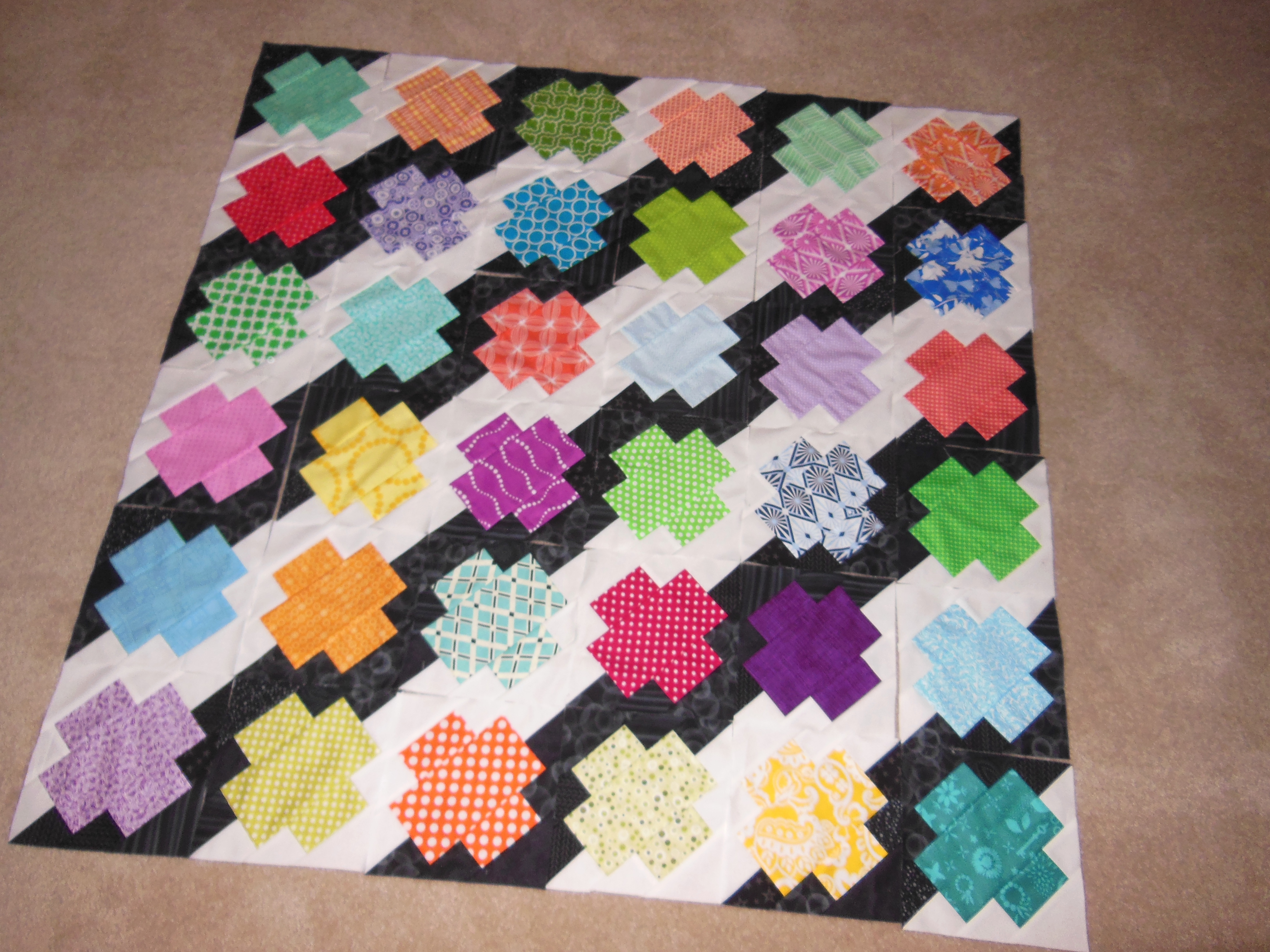 """New Pattern: """"Jumping Jacks"""" Scrap Quilt - Color Girl ..."""