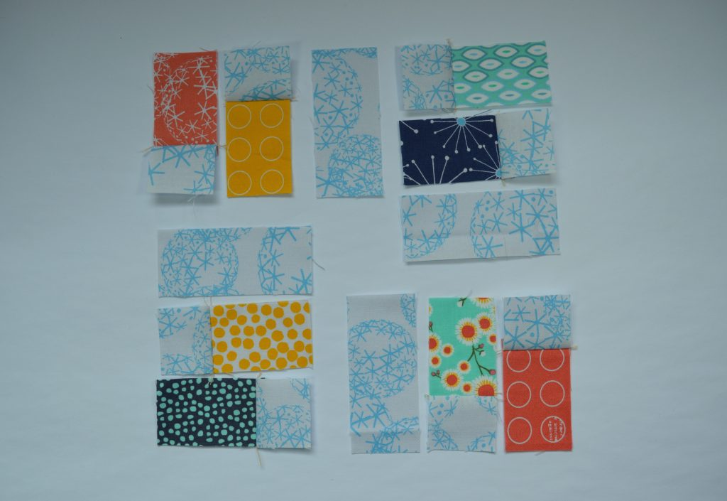 how to sew a simple six inch quilt sampler block with rectangles