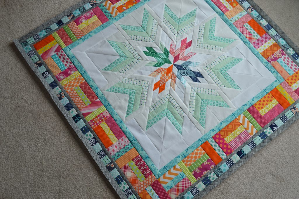 Aviatrix Medallion quilt, pieced quilt borders, star quilt