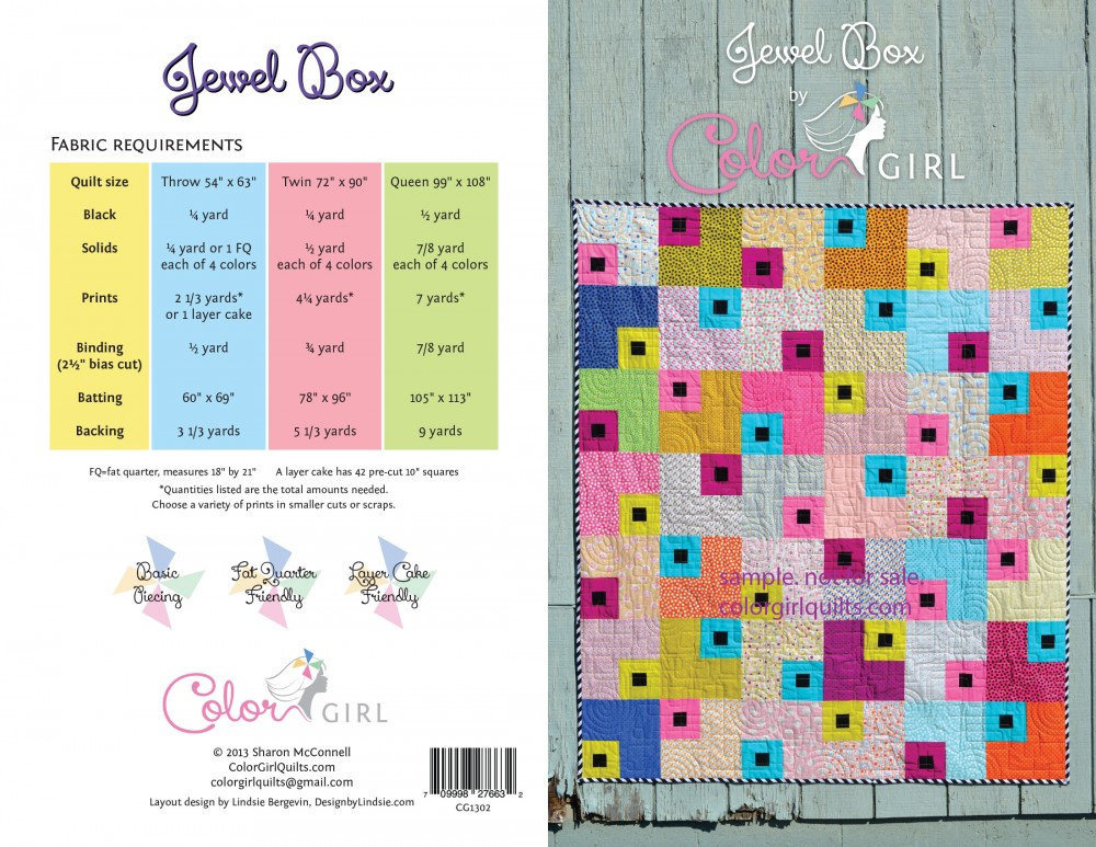 JewelBox quilt pattern cover