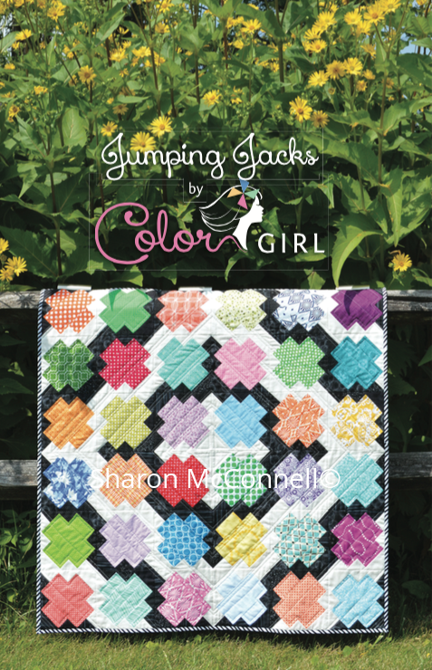 Jumping Jacks scrappy modern quilt for beginners, pattern