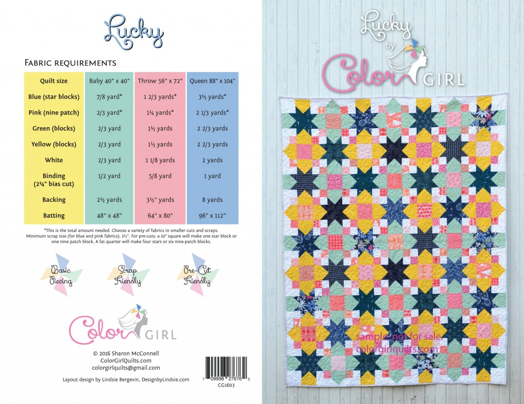 Lucky quilt pattern cover by Color Girl