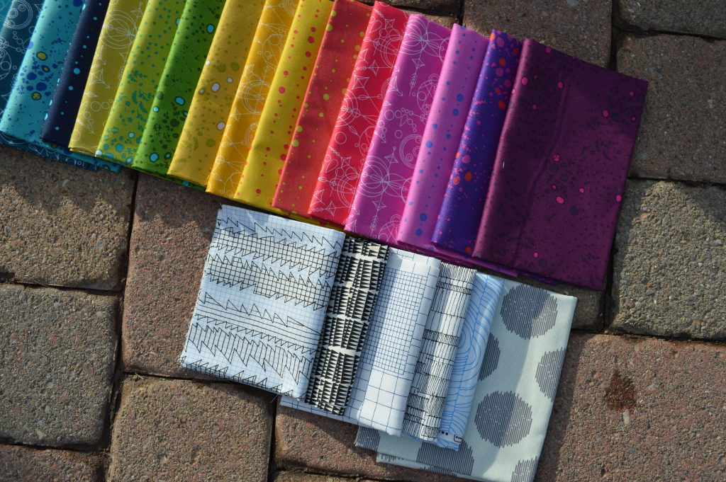 Choosing quilting fabrics and colors, what goes with alison glass sun prints