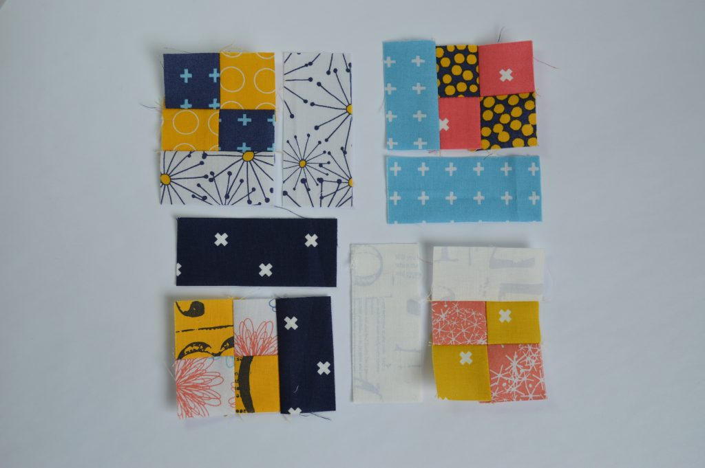 how to make four patch square simple six inch sampler quilt block tutorial